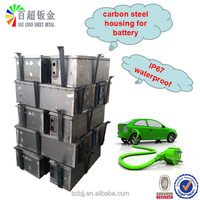 sheet metal parts in Auto battery case/carbon steel fabrication