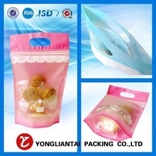 True manufacturer fast delivery plastic standup pouch with zippers