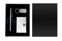 business metal gift set keychain ball pen card holder business gift set