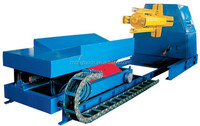 5T Automatic Hydraulic steel sheet coil Decoiler with car for sale in China