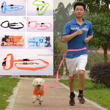 Hands Free Dog Lead Running Jogging Walking Belt Lead