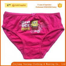 discount cotton dark pink cartoon child underwear girls
