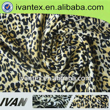 2013 new design spun polyester spandex leopard print jersey knitted fabric