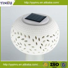 Direct by China vender energy saving fancy ceramic solar light