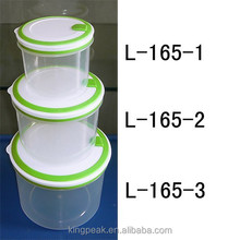 2015 Hot Sale Plastic food storage container/Bento Lunch box/Transparent Round plastic storage container