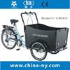 2015 china bicycle with three wheels/ adult cargo bike/