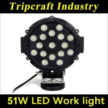 Superior quality automobile 51W Led Work Light, Led Truck light rechargeable led work lights