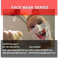 nonwoven disposable printed surgical face mask with design