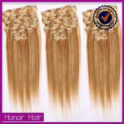 Crazy discount!Alibaba hot selling double weft double drawn cheap wholesale clip hair extensions dubai