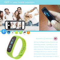 OLED screen IP57 bluetooth wrist band step counter E02