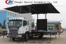 Jac/4x2 dongfeng camión escenario móvil, mostrar móviles etapa de camiones, etapa de camiones para la venta