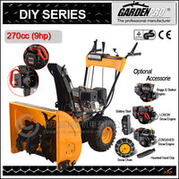 9hp snow plow / snow thrower / snow cleaning machine / snow broom / snow shovel / snow remover/ snow sweeper, electrical start
