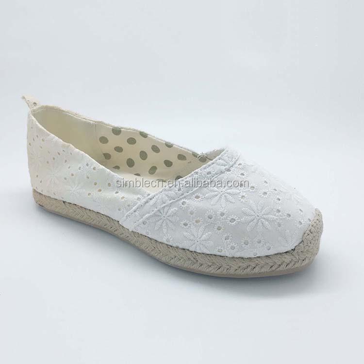Nouveautés filles fantaisie confortable tissu ballet plat casual chaussures