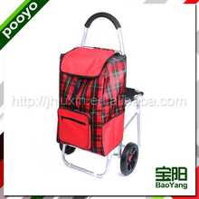 hand trolley luggage for promotion calcite toppings