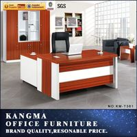 wooden material mat or shiny finished luxury executive desk