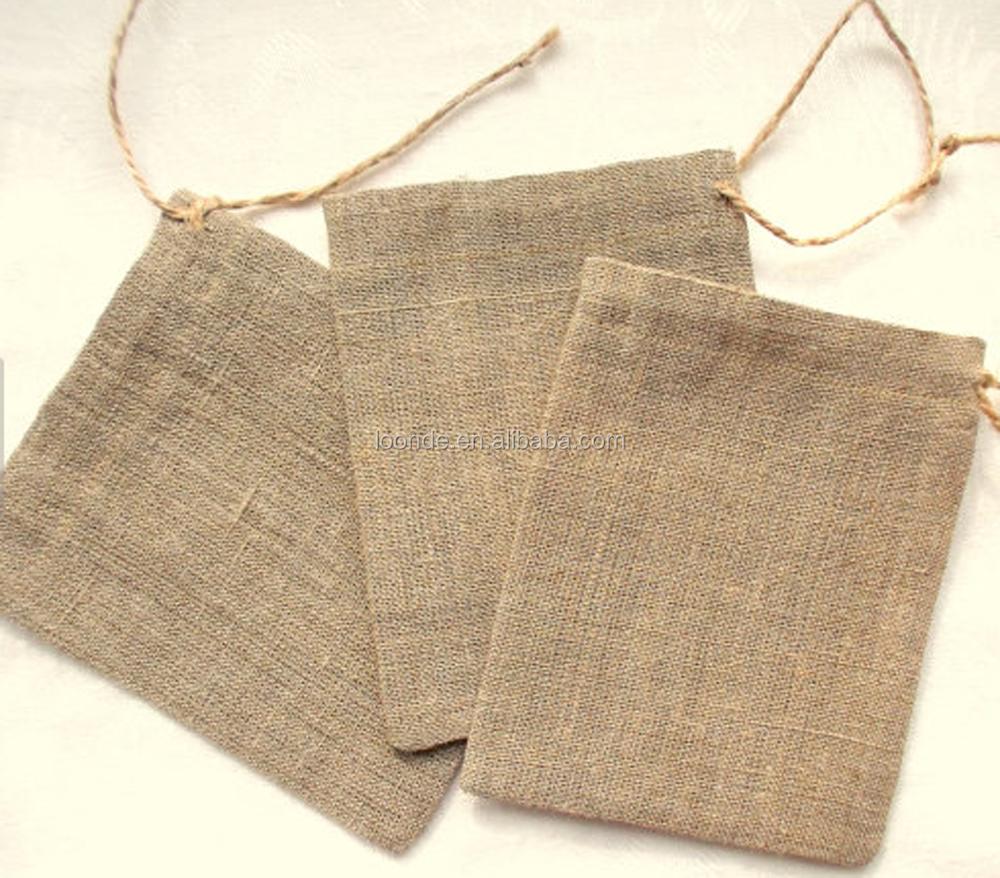 wholesale rustic mini coffee burlap bags for wedding