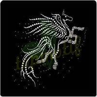 Hot sale Pegasus rhinestone heat transfers for t-shirts crystal decoration