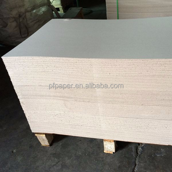 Grey chipboard gray paperboard sheets printability