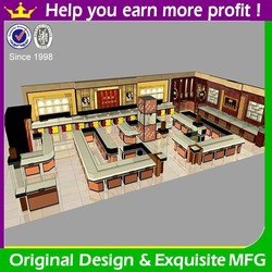 Present-day new design retail jewelry store with jewelry store display furniture