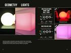 Lâmpada RGB iluminação para mudar de forma