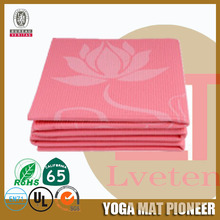 Easy to carry full printed folding/folded yoga mat,fitness mats
