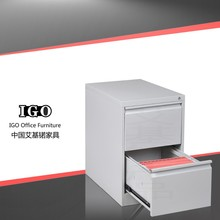Clip-in mechanism easy assembling filing cabinet 2 drawer