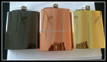 factory direct sell Hip Flask High Quality Creative Hot Selling 8oz Hip Flask with electro plating finished
