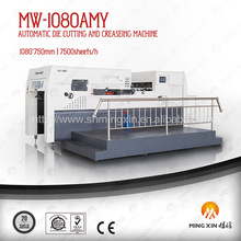 Automatic die cutting machine with creasing for E,B flute corrugated board