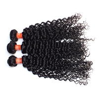 Kinky Curly Hair Weave Best Selling Hair Weft In US Soft And Natural Virgin Brazilian Hair Weave