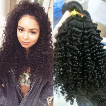 Top Fashion stock 100% unprocessed brazilian hair natural curly woman hair
