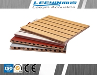 Soundproof Grooved MDF Acoustic Panel For Interior Wall Decoration