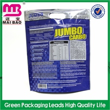 Customized graphics packaging bags with ziplock and tear