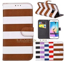 fancy color cell phone case for girls For Samsung S6 Edge Wallet Leather Case With Stand, Wholesale China