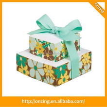 Onzing good quality clear plastic cube gift boxe manufacturer in china
