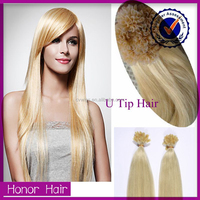Top quality u tip hair !! wholesale 100 cheap remy u tip keratin human hair extension