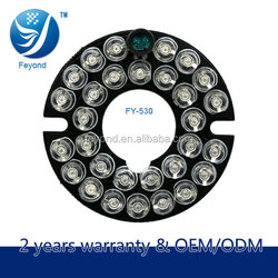 Low price and high quality Electronic products circuit board pcb of 30pcs leds feyond infrared light bulb for cctv camera board