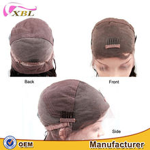 XBL different inches and colors wholesale price high quality raw human hair body wave and straight full lace wig