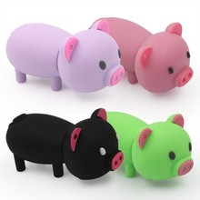 Wholesale High Sales 8GB USB Flash Cartoon Pig Model USB 2.0 Flash Memory Stick Flash PenDrive Festival Gifts/Drive/Pen UP1238