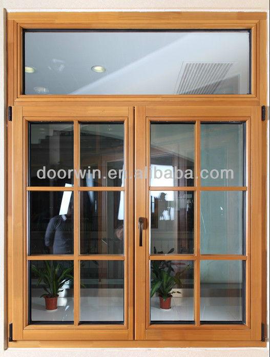 Good Insulated tilt turn wood windows with double Glazed