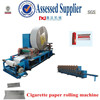 Automatic slitting and gluing smoking hand paper rolling machine