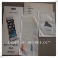 Customized factory price professional screen protector for iphone 5/5s
