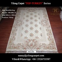 double knots 200x300cm home handknotted wool/silk persian carpets online