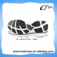 Elastic rubber soles for shoe making