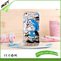 Custom Soft Gel TPU Smart Phone Case Cover for iPhone 6 with Stand pokonyan style cell phone case