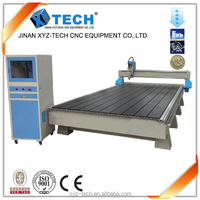 High efficiency 3kw spindle motor linear guideway wood cnc router with vacuum table and dust collect cnc wood