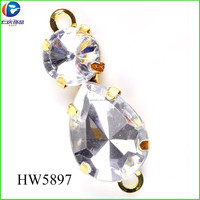 HW5897 plastic shoe buckles 16 K imitation gold accessories for women shoes