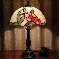 Beautiful tiffany style table lamp with 12inch for lamp shade from factory