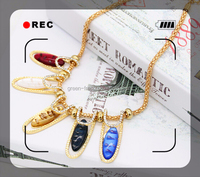 gold necklace designs,alloy brass fashion necklace pearl necklace
