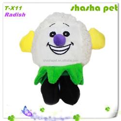 Factory wholesale Radish pet plush toys cat toys dog toys dog chew toys squeaker pet toys