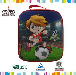 Football Polyester,600D polyerster + PE foam + PEVA Material and Insulated thermal bag